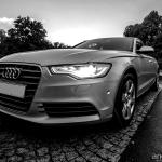 Audi A6-quattro en route to Stuttgart